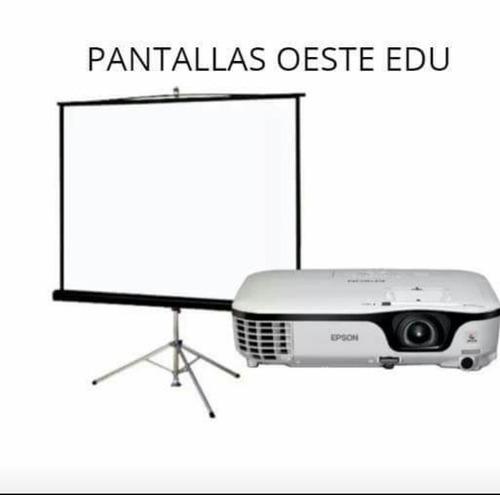 alquiler pantalla y proyector