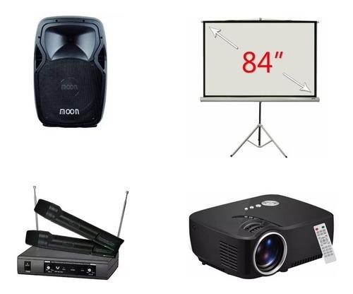 alquiler pantalla/proyector microfonos karaoke