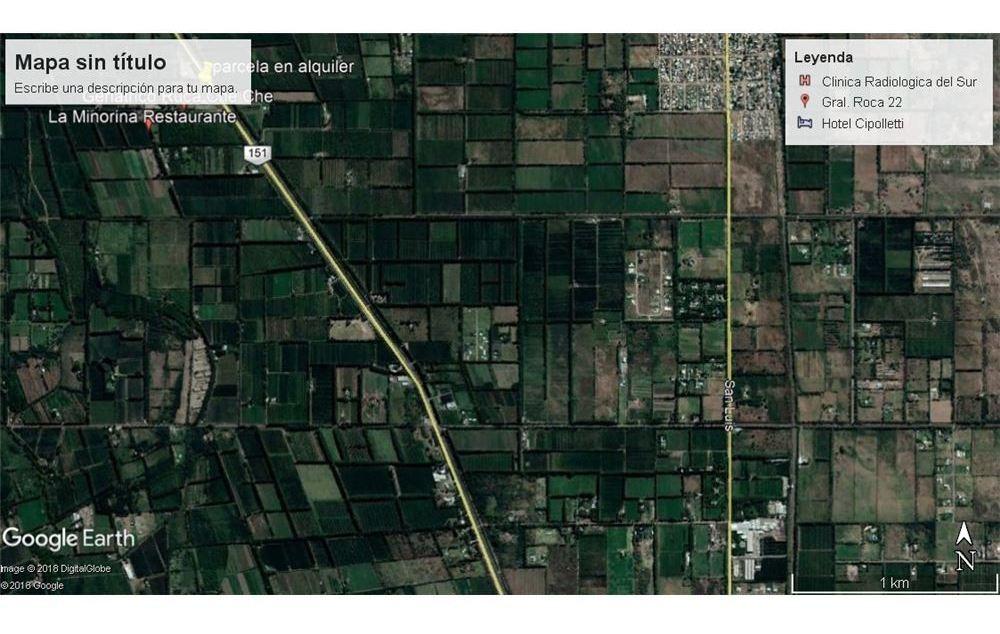 alquiler parcela 5.500m2 frente de ruta cipolletti