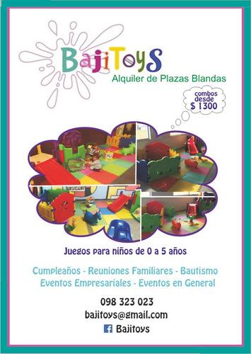alquiler pelotero plaza blanda juegos p chiquitos- inflable