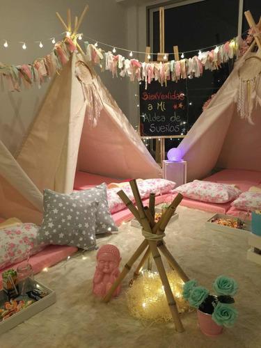 alquiler pijamadas carpas infantiles tippi pijama party