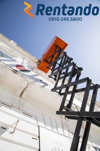 alquiler plataforma elevación brazo articulado