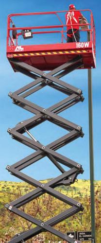 alquiler plataforma elevadora tijera eléctrica lucas rental
