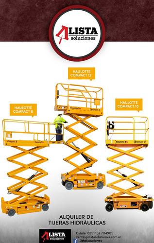 alquiler plataforma elevadora -tijera haulotte autoelevadora