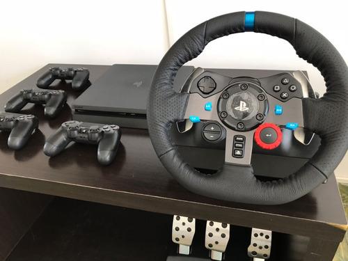 alquiler play station ps4 + juegos volante virtual realidad