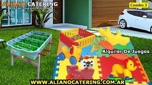 alquiler plaza blanda juegos infantiles metegol tejo livings