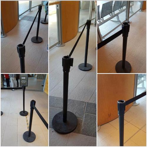alquiler postes unifilas con cinta retráctil o cordones.