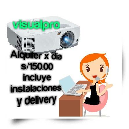 alquiler proyector multimedia s/50
