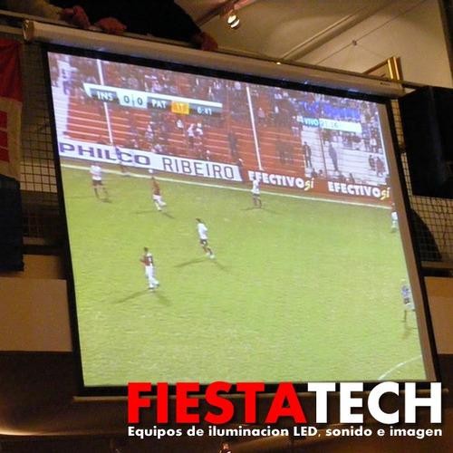 alquiler proyector mundial combo pantalla gigante sonido hd
