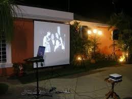 alquiler proyector, pantalla gigante, sonido, karaokes