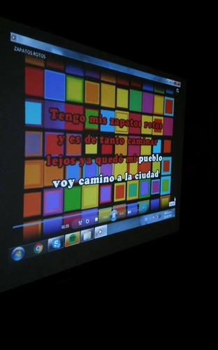alquiler proyector pantalla sonido karaoke microfonos yenga