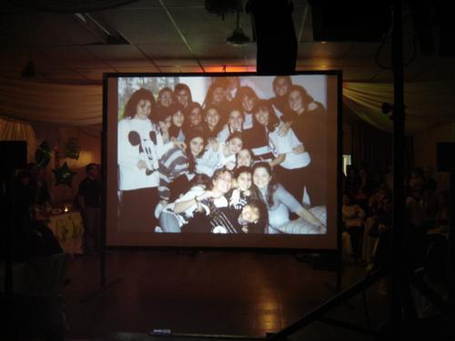 alquiler proyector y pantalla gigante fotografia filmacion