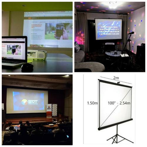 alquiler proyectores, infocus, pantallas, parlantes