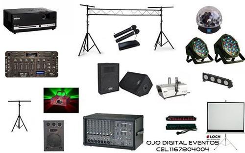 alquiler proyectores-pantallas-luces-karaoke- living.