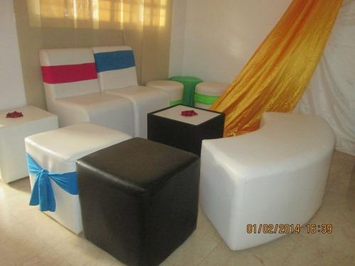 alquiler puf area lounge divan sombrillas quince graduacion