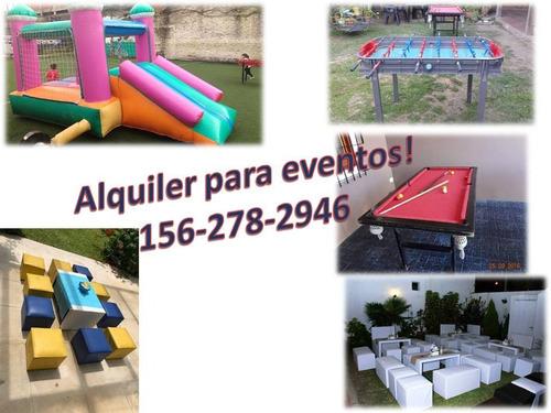 alquiler puff, living y mesas, niños y adultos!!!!!!!!