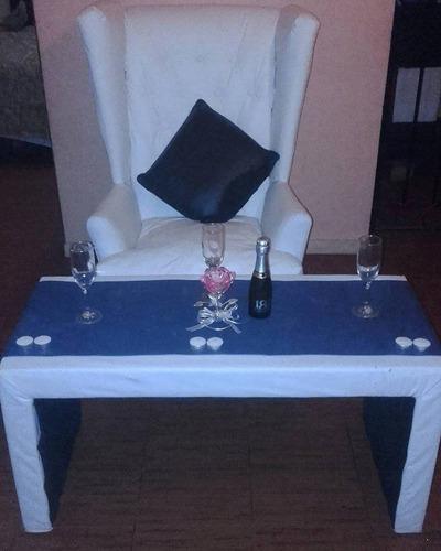 alquiler puff, living y mesas, sillon princesa y otros!!