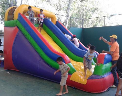 alquiler rampa acuática - tobogán acuático - mega inflables