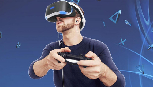 alquiler realidad virtual ps4 con casco y just dance