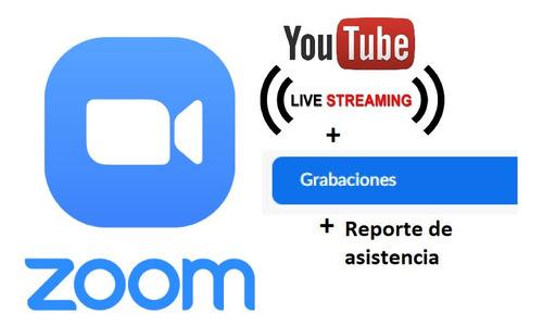 alquiler reuniones zoom 500 ó 1.000 participantes + youtube