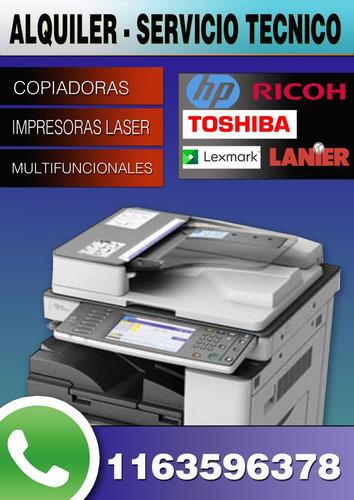 alquiler servicio técnico copiadoras ricoh lanier y lexmark