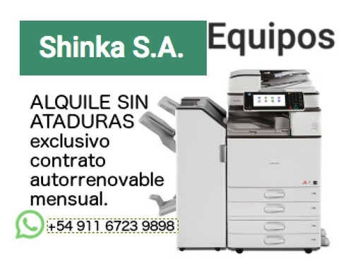 alquiler servicio técnico fotocopiadora impresora escaner