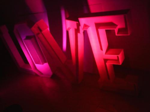 alquiler set fotografico letras love, eventos / decoracion