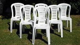 alquiler sillas banquetas mesas plasticas manteles tablones