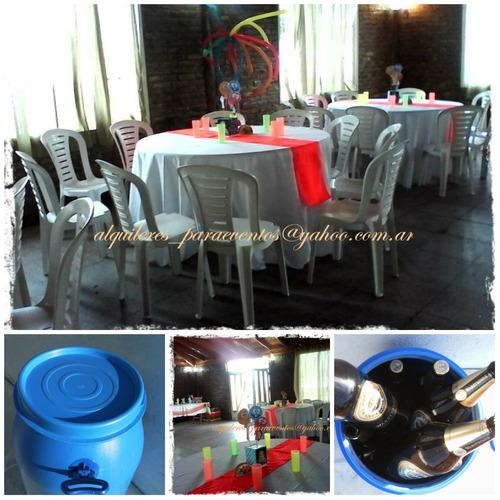 alquiler sillas mesas manteleria y vajilla - avellaneda