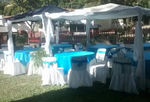 alquiler sillas mesas mesones agencia de festejos decoracion