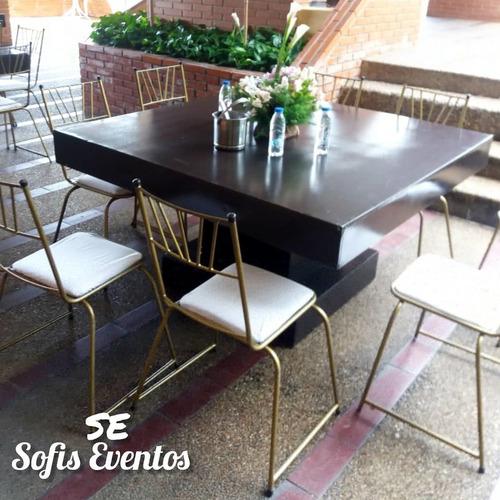alquiler sillas, mesas, mesones, decoraciones, sonido!!!