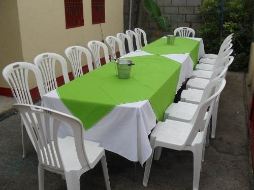 alquiler sillas, mesas, vajilla, freezer, zona norte..