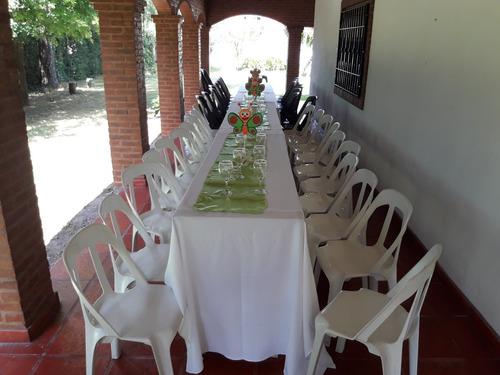 alquiler :sillas mesas vajilla,mant,mesas,puff,carpas gazebo