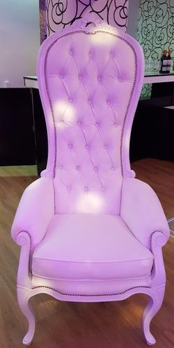 alquiler sillas tiffany / royal crystal  y sillon princesa