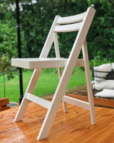 alquiler sillas tijera madera, mesas y vajilla