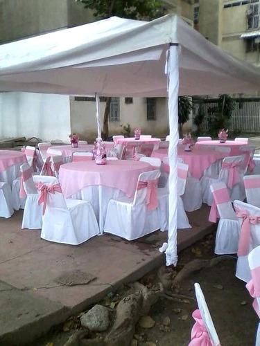 alquiler sillas vestidas mesas toldos vaso manteleria platos