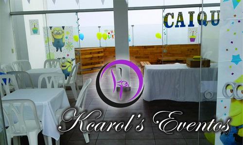 alquiler sillas y mesas plástico, catering, decoración, etc.