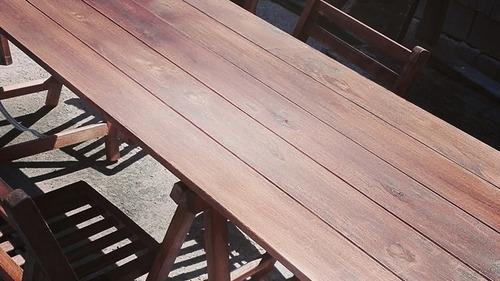 alquiler sillas,mesas en madera fabricación propia o pvc.