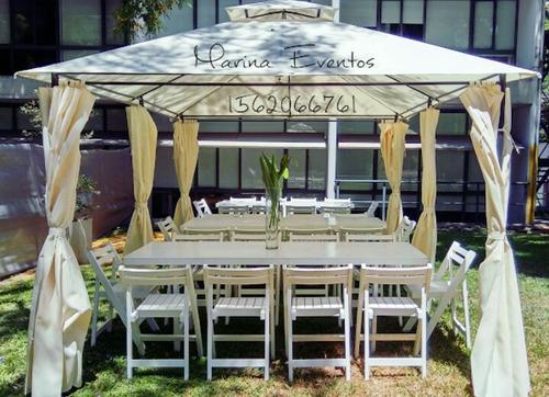alquiler sillas,mesas,jueg living,equipamiento eventos