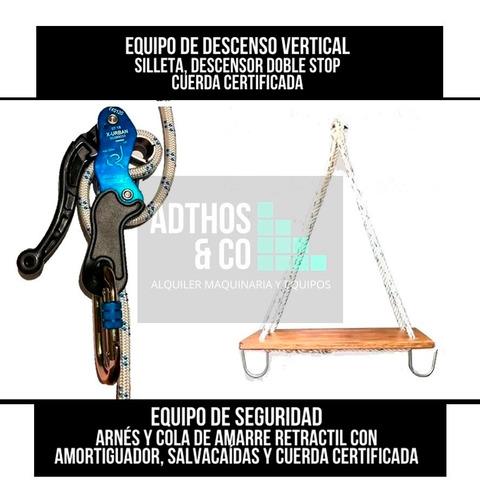 alquiler - silleta con descensor  equipo de seguridad altura