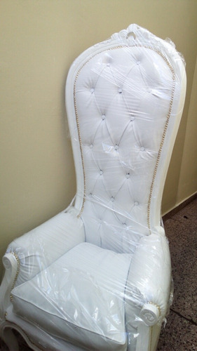alquiler sillón 15 años princesa colonial alto, bodas, telón