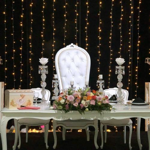 alquiler  sillón  15 años princesa colonial alto eventos.