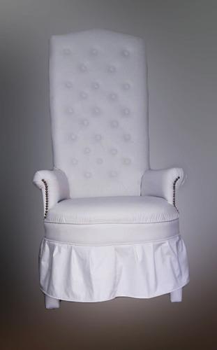 alquiler sillon quince con pedido de vajilla