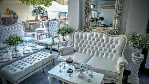 alquiler sillones muebles estilo  luis xv para eventos