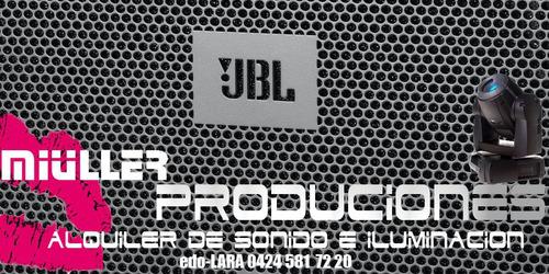 alquiler sonido iluminacion discplay miniteca video beam dj