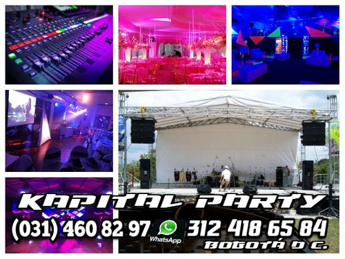 alquiler sonido luces neon truss dj cañon papel video beam-
