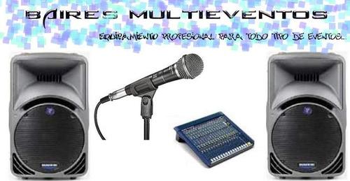 alquiler sonido parlantes potencias consolas promos