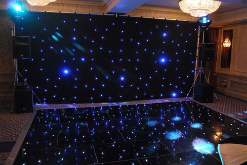 alquiler telón cortinado led evento dj mejor precio pantalla