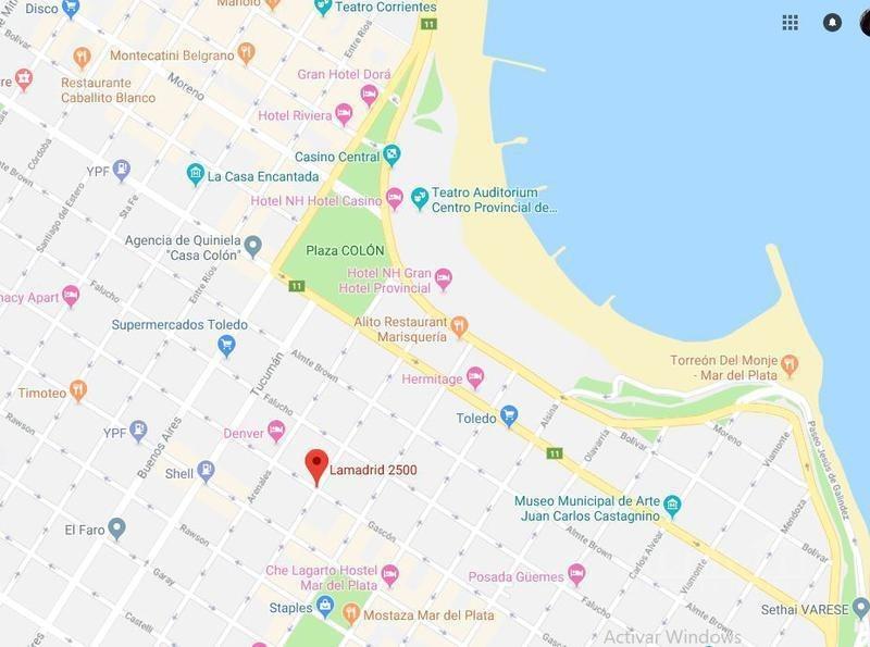 alquiler temporal en la costa mar del plata para 5 personas - centro