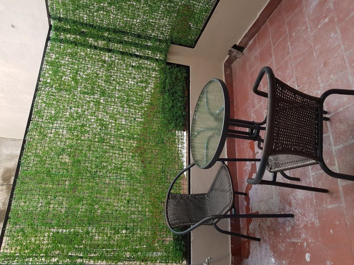 alquiler temporal ph muy luminoso monoambiente con patio